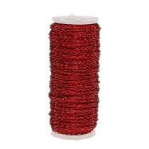 Bouillon-effekttråd Ø0,30mm 100g / 140m rød