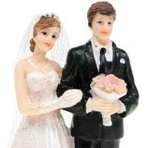 Brudepar bryllupsfigur 10cm