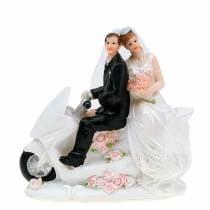 Brudeparfigur på motorsykkel 12cm