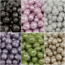 Strålende dekorative perler 4mm - 8mm farget 1l