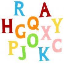 Følte bokstaver assorterte farger 2,5cm - 3cm 150p