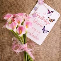 Calla deco blomst rosa 57cm 12stk