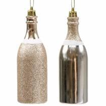 Champagneflaske for å henge lys gull 10stk