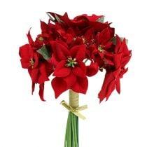 Julestjerne i en haug rød Ø18cm L30cm