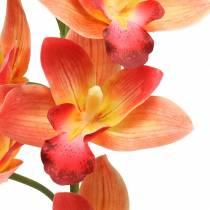 Orchid kunstig blomst Cymbidium Orange 74cm