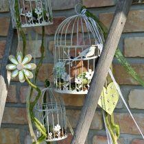 Bird aviary vintage kantet grå 21 / 17cm 2stk