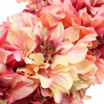 Dahlia blossom kransrosa, krem Ø42cm