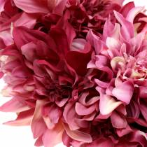Dahlia blomsterkrans gammel rose, mallow Ø42cm