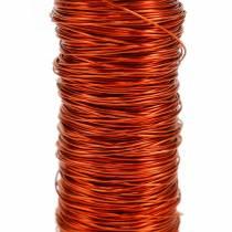 Dekorativ emaljert tråd oransje Ø0.30mm 30g / 50m