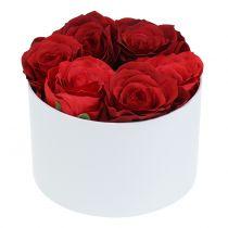 Blomsterkasse Flowerbox hvit rund Ø14cm - Ø16cm 2stk