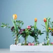 Dekorativ flaske blomstervase Ø7,5cm H13,5cm klar 6stk
