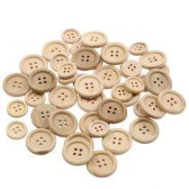 Dekorative knapper naturlig 1,5cm - 2,5cm 150p