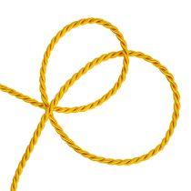 Dekorativ ledning i gul 4mm 25m
