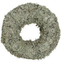 Dekorativ krans, mosekrans grå Ø38cm 1st