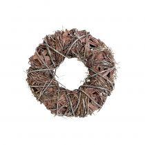 Dekorativ krans natur Ø25cm hvitvasket