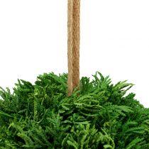Kunstig plantekule for hengende grønn Ø20cm