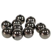 Dekorative perler antrasitt metallic 14mm 35stk