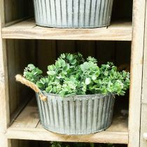 Dekorativ bolle, planter med håndtak, blomsterbolle for planting Ø25cm