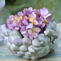 Dekorativ bolle druer grå lilla krem 19 × 14cm H9,5cm