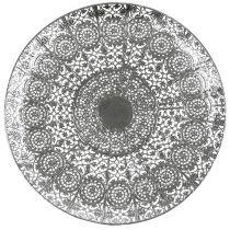 Dekorativ plate sølv med motiv Ø35cm