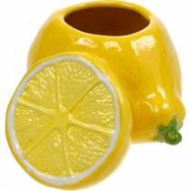 Dekorativ gryte sitronvase sitrusfrukter keramisk sommerdekorasjon