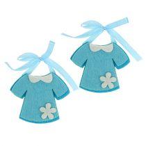 Dekorasjon til fødselsfiltkjole blå 7cm 20stk