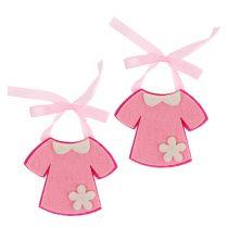 Dekorasjon til fødselsfiltkjole rosa 7cm 20stk