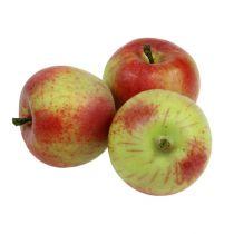 Dekorativ eple rød, grønn Ø6cm 6stk