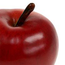 Dekorativ eple rød matt 8cm 1p