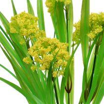 Dekorativt gress med blomster gul, grønn L30cm