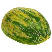 Dekorativ honningmelon halvert oransje, grønn 13cm