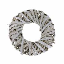 Dekorativ krans lianatre hvitvasket Ø30cm