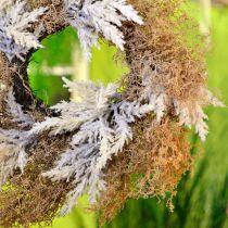 Dekorativ krans pampas gress kunstig krem, brun dørkrans Ø60cm