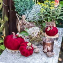 Deco gresskar rød høstdekorasjon polyresin 15 × 12cm