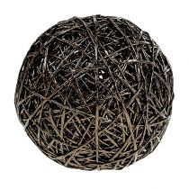 Dekorativ kul mørk brun Ø15cm