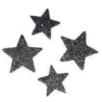 Dekorative stjerner for spredning av 4-5cm svart 40stk
