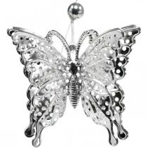 Dekorativ anheng sommerfugl, bryllupsdekorasjon, metall sommerfugl, vår 6stk