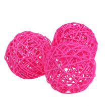 Dekoball Pink 10cm 6stk