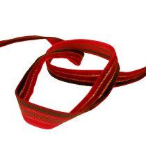 Dekorativt bånd 3-farget fløyel 15mm 10m