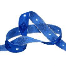 Deco bånd blå med mønster 25mm 20m