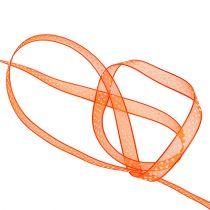 Dekorbånd oransje med prikker 7mm 20m