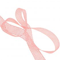 Deco båndblonder 21mm 20m rosa