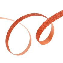Dekorativt bånd med glimmer kobber 5mm 150m