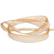 Dekorbånd med vintermotiv oransje-hvitt 15mm 20m