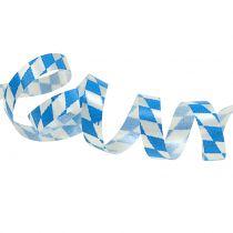 Dekorativt bånd poly tape blå-hvit 5mm 250m
