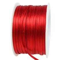Gave- og dekorasjonsbånd 3mm x 50m lys rød