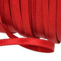 Gave- og dekorasjonsbånd 6mm x 50m lys rød