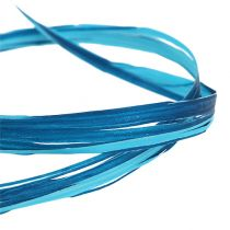 Dekorativ bast tofarget blå 200m