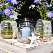 Dekorasjonsglass, blomstervase, glasslykt, borddekorasjon Ø10cm H10cm 6stk