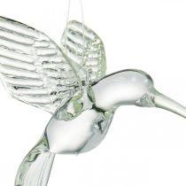 Dekorasjon kolibri, glassdekorasjon, paradisfugl, glassanheng, dekorasjonsfugl
